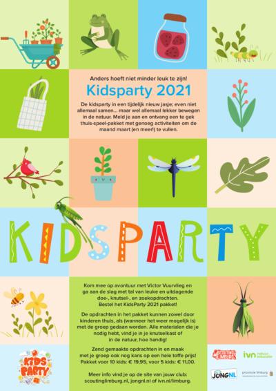 De kidsparty in een tijdelijk nieuw jasje; even niet allemaal samen… maar wel allemaal lekker bewegen in de natuur. Meld je aan en ontvang een te gek thuis-speel-pakket met genoeg activiteiten om de maand maart (en meer!) te vullen.