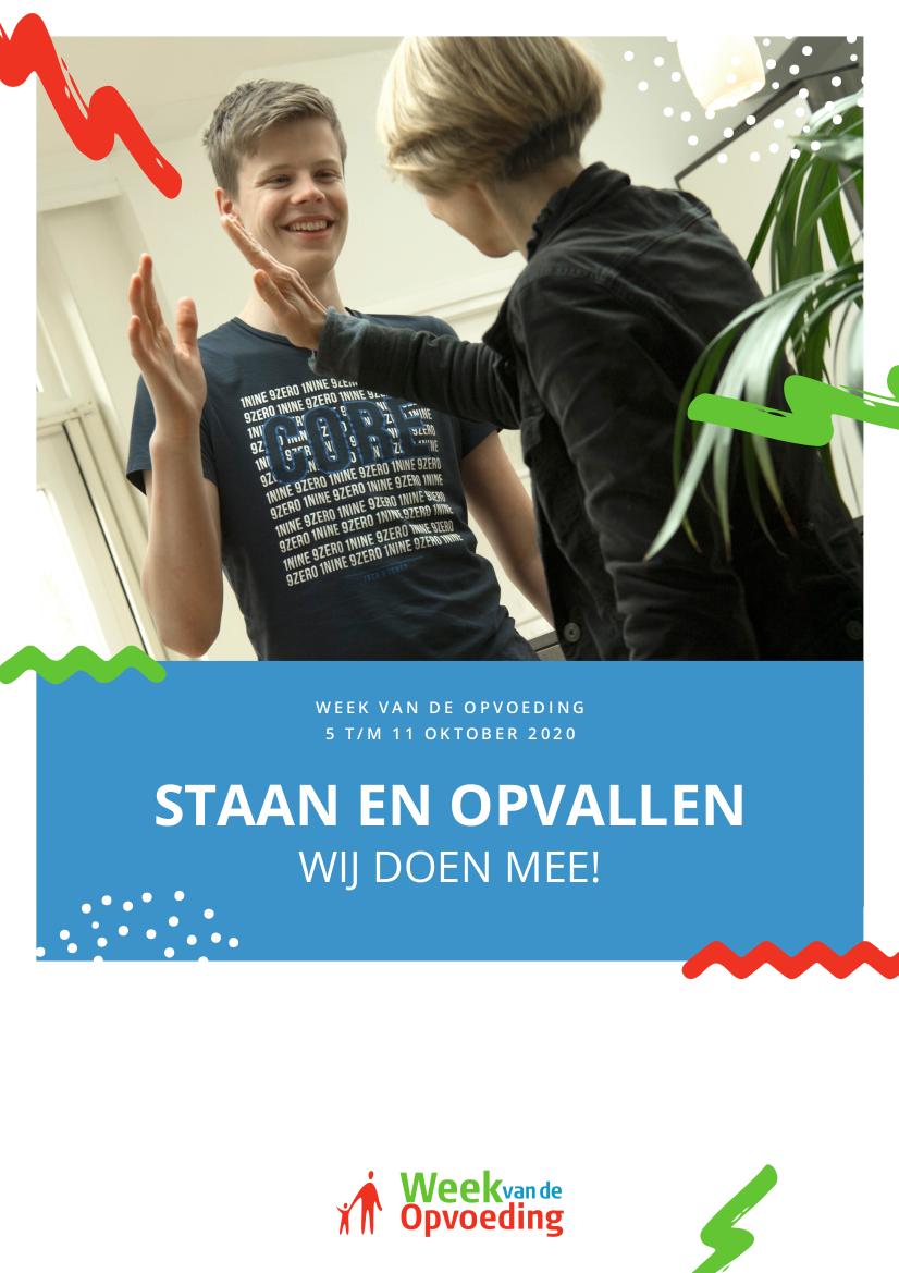 Poster Week van de Opvoeding 2020